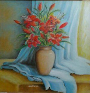 Tranh Hoa Ly Đỏ