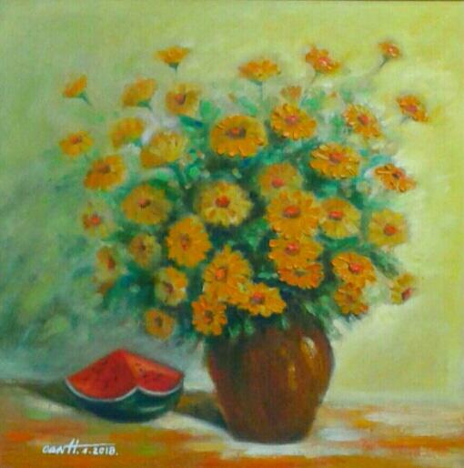 Tranh Hoa Cúc Nhật