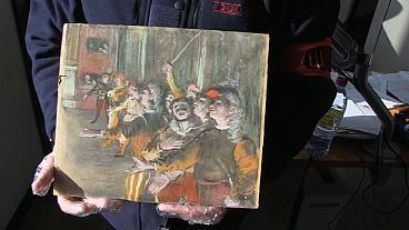 Bức tranh của Degas bị đánh cắp được tìm thấy trong vali trên xe buýt Pháp