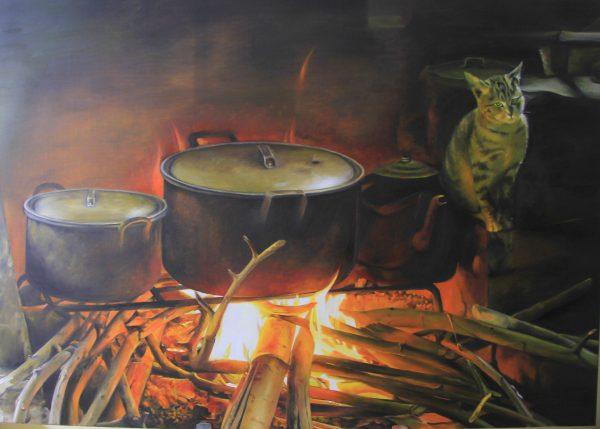 Bếp lửa - Họa sĩ Linh Hoàng