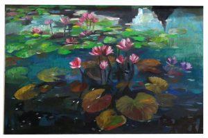 Tranh Hồ Hoa Súng