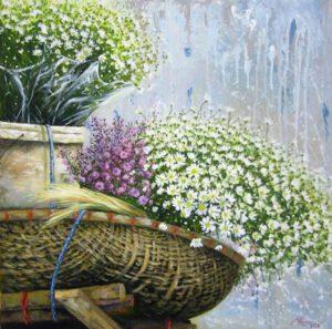 Tranh sơn dầu giao mùa
