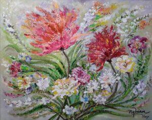 Tranh Mùa hoa