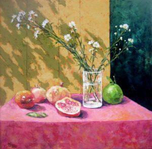 Tranh sơn dầu tĩnh vật mùa thu