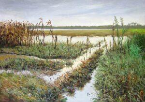 Tranh sơn dầu ven sông