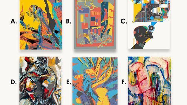 Bạn có thể tìm ra bức tranh nào dưới đây không phải do con người vẽ?
