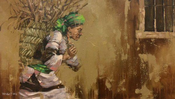 Gùi củi - Họa sĩ Nguyễn Duy Quang