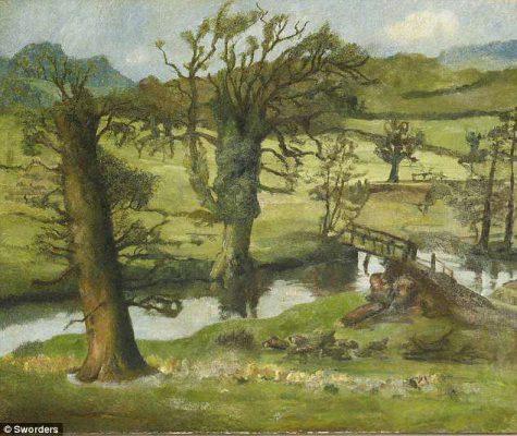 Một bức tranh phong cảnh của họa sĩ Lucian