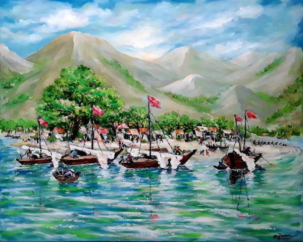 Thuyền và Biển - Họa sĩ Nguyễn Quang Tuấn