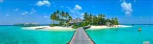 Tranh dán tường 3D đảo tự do