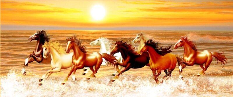 Tranh ngựa đẹp, bát mã truy phong, mã đáo thành công
