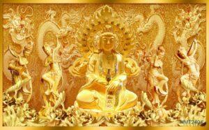 Tranh Dán Tường 3D Đức Phật Thích Ca Mâu Ni