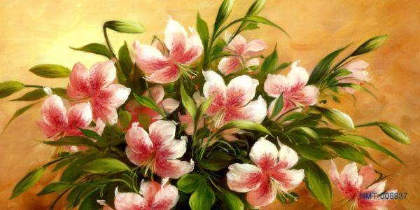Tranh dán tường 3D hoa loa kèn