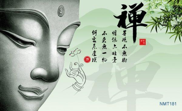 Tranh Dán Tường 3D khuôn mặt đức Phật