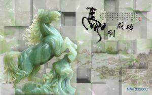 Tranh dán tường 3D ngựa đẹp ấn tượng