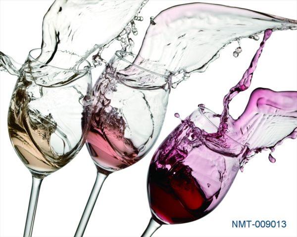 Tranh dán tường 3D rượu nho