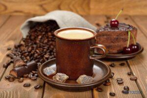 Tranh dán tường 3D tách cà phê đam mê