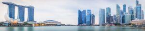 Tranh dán tường 3D thành phố biển