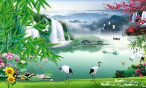 Tranh Dán Tường 3D thiên nhiên huyền ảo