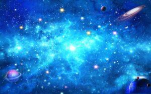 Tranh dán tường 3D vũ trụ của con