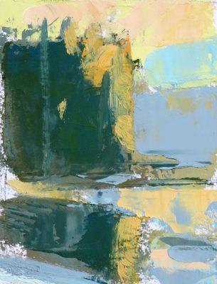 Mitchell Albala, Reflection on a Deep Pond, sơn dầu trên giấy