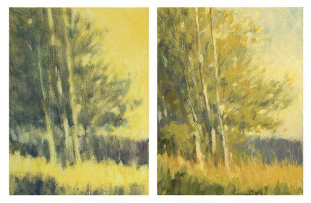 Mitchell Albala, The Cottonwood , sơn dầu trên giấy.