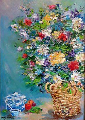 Tranh tĩnh vật hoa