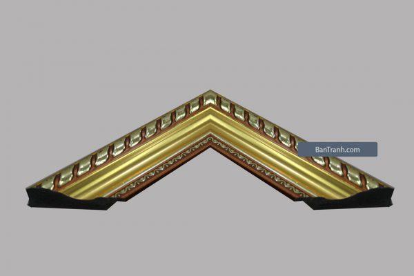 Khung tranh cổ điển gỗ vàng hoa văn tuyệt đẹp