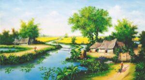 Phong cảnh làng quê việt nam