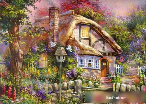 Tranh vẽ nhà