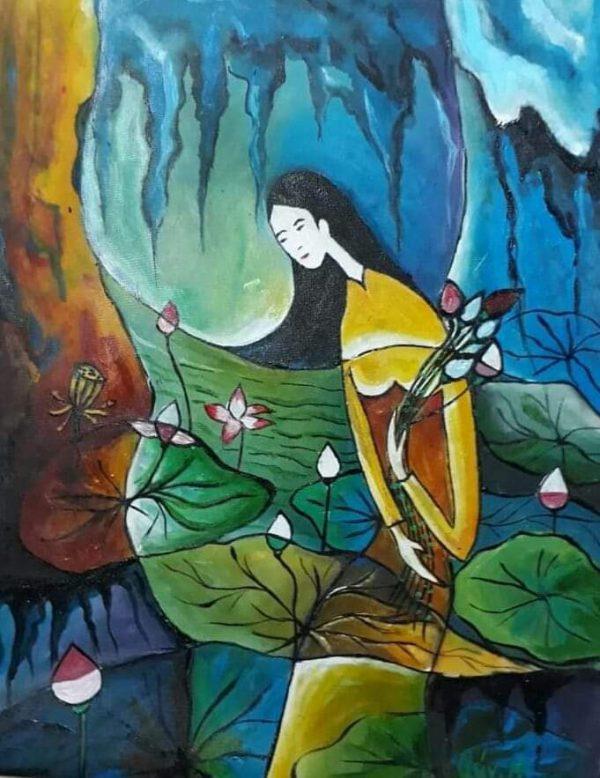 Thiếu nữ mùa hạ - Họa sĩ Nguyễn Quang Quý