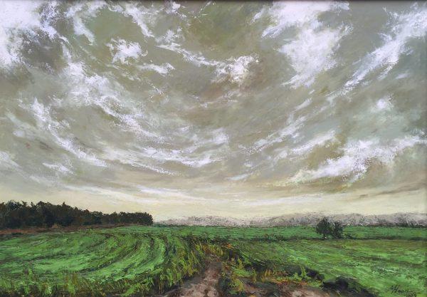 Tranh phong cảnh trên cánh đồng #4