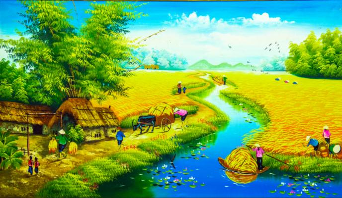 Tranh phong cảnh đồng quê đẹp
