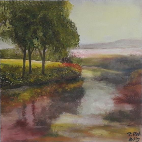 Tranh khúc sông quê