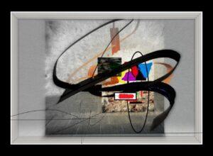 Tranh trừu tượng kỹ thuật số đương đại trong kỷ nguyên số