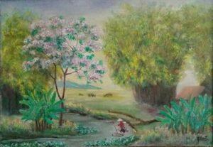 Tranh Phong cảnh đầu làng