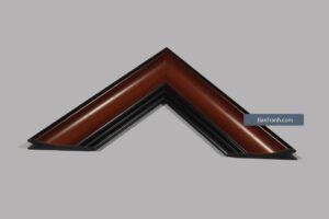 Khung tranh giả gỗ nâu viền đen đơn giản và tinh tế