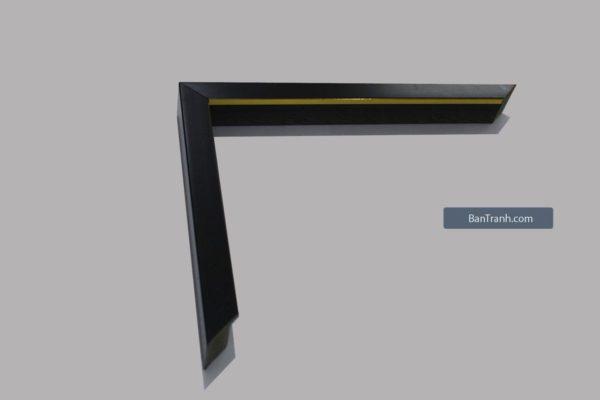 Khung tranh canvas màu đen bản nhỏ, thiết kế hiện đại