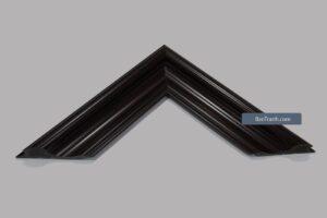 Khung tranh canvas màu đen kiểu gỗ