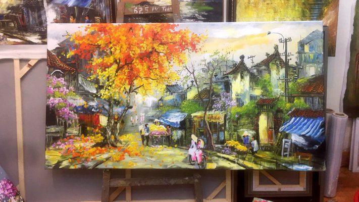 Mua tranh sơn dầu ở đâu ở Hà Nội