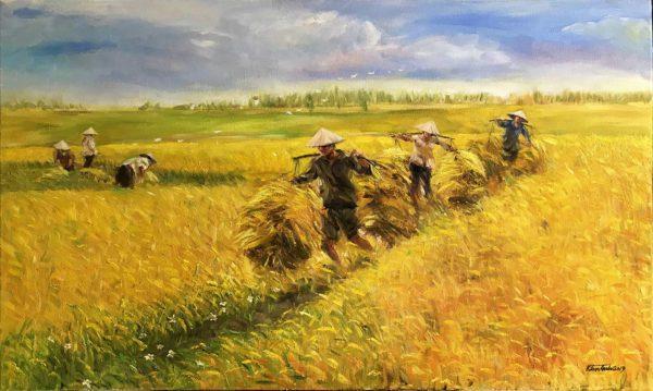Tranh Mùa gặt 4
