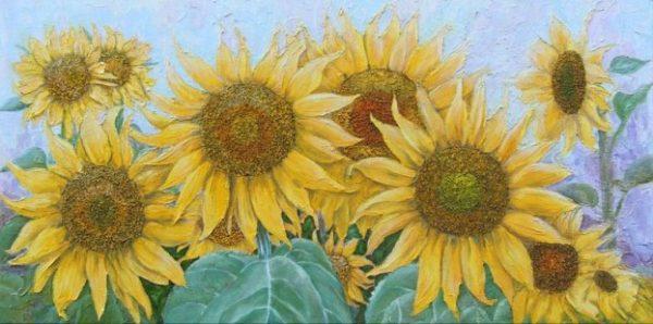 Tranh hoa hướng dương đẹp và ý nghĩa treo phòng khách