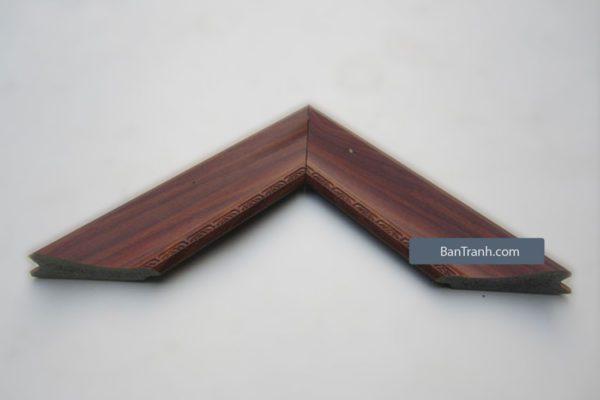 Khung tranh gỗ nâu vân sáng đơn giản tinh tế