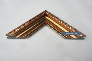 Khung bản đồ kim loại màu nâu xen vàng họa tiết cổ điển