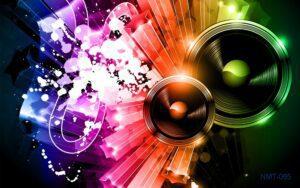 Tranh dán tường 3D âm nhạc và ánh sáng