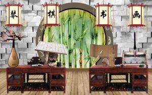 Tranh dán tường 3D Căn phòng cổ xưa