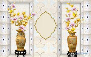 Tranh dán tường 3D Cành hoa ngày Tết
