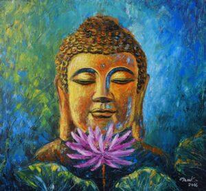 Tranh Phật Sen