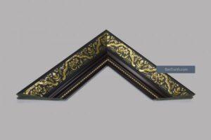 Khung hình ảnh màu đen họa tiết vàng đồng cổ điển