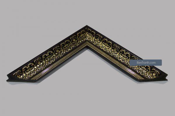 Khung hình ảnh màu đen họa tiết vàng đồng cổ điển sang trọng